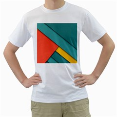 Color Schemes Material Design Wallpaper Men s T-Shirt (White)
