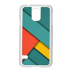 Color Schemes Material Design Wallpaper Samsung Galaxy S5 Case (White)