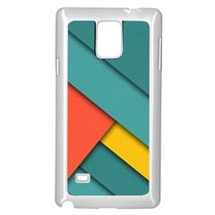 Color Schemes Material Design Wallpaper Samsung Galaxy Note 4 Case (White)