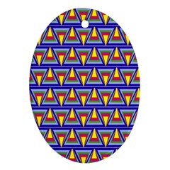 Seamless Prismatic Pythagorean Pattern Ornament (oval)
