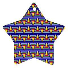 Seamless Prismatic Pythagorean Pattern Ornament (star)