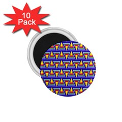 Seamless Prismatic Pythagorean Pattern 1.75  Magnets (10 pack)