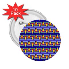 Seamless Prismatic Pythagorean Pattern 2 25  Buttons (10 Pack)