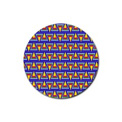 Seamless Prismatic Pythagorean Pattern Rubber Round Coaster (4 Pack)
