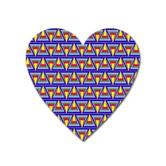 Seamless Prismatic Pythagorean Pattern Heart Magnet