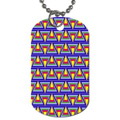 Seamless Prismatic Pythagorean Pattern Dog Tag (One Side)