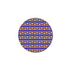 Seamless Prismatic Pythagorean Pattern Golf Ball Marker