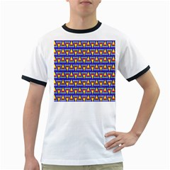 Seamless Prismatic Pythagorean Pattern Ringer T Shirts
