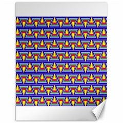 Seamless Prismatic Pythagorean Pattern Canvas 12  X 16
