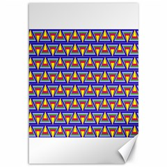 Seamless Prismatic Pythagorean Pattern Canvas 12  X 18
