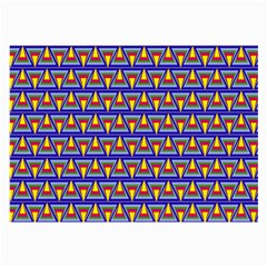 Seamless Prismatic Pythagorean Pattern Large Glasses Cloth (2 Side)