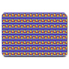Seamless Prismatic Pythagorean Pattern Large Doormat