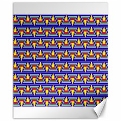 Seamless Prismatic Pythagorean Pattern Canvas 11  X 14