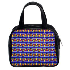 Seamless Prismatic Pythagorean Pattern Classic Handbags (2 Sides)