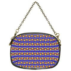 Seamless Prismatic Pythagorean Pattern Chain Purses (one Side)