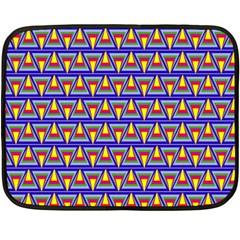 Seamless Prismatic Pythagorean Pattern Double Sided Fleece Blanket (Mini)