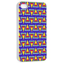 Seamless Prismatic Pythagorean Pattern Apple iPhone 4/4s Seamless Case (White)