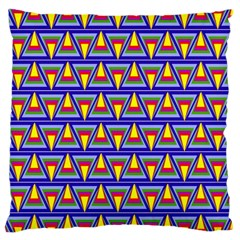 Seamless Prismatic Pythagorean Pattern Large Cushion Case (two Sides)