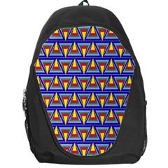 Seamless Prismatic Pythagorean Pattern Backpack Bag