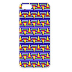 Seamless Prismatic Pythagorean Pattern Apple Iphone 5 Seamless Case (white)