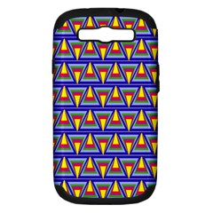 Seamless Prismatic Pythagorean Pattern Samsung Galaxy S III Hardshell Case (PC+Silicone)
