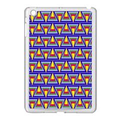 Seamless Prismatic Pythagorean Pattern Apple Ipad Mini Case (white)