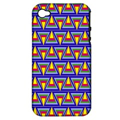 Seamless Prismatic Pythagorean Pattern Apple Iphone 4/4s Hardshell Case (pc+silicone)