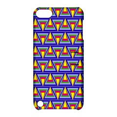 Seamless Prismatic Pythagorean Pattern Apple Ipod Touch 5 Hardshell Case With Stand