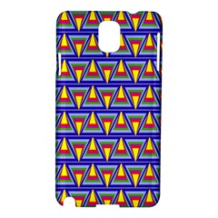 Seamless Prismatic Pythagorean Pattern Samsung Galaxy Note 3 N9005 Hardshell Case