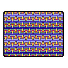 Seamless Prismatic Pythagorean Pattern Double Sided Fleece Blanket (small)