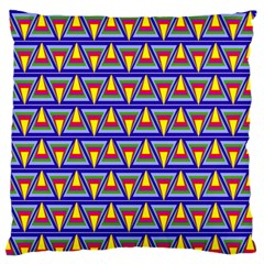 Seamless Prismatic Pythagorean Pattern Large Flano Cushion Case (one Side)