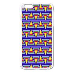 Seamless Prismatic Pythagorean Pattern Apple Iphone 6 Plus/6s Plus Enamel White Case