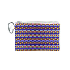 Seamless Prismatic Pythagorean Pattern Canvas Cosmetic Bag (S)