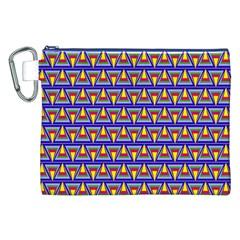 Seamless Prismatic Pythagorean Pattern Canvas Cosmetic Bag (xxl)