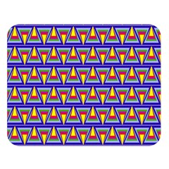 Seamless Prismatic Pythagorean Pattern Double Sided Flano Blanket (Large)