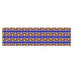 Seamless Prismatic Pythagorean Pattern Satin Scarf (oblong)