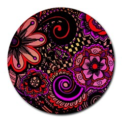 Sunset Floral Round Mousepads