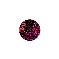 Sunset Floral 1  Mini Buttons