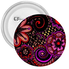 Sunset Floral 3  Buttons