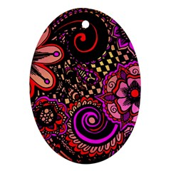 Sunset Floral Ornament (Oval)