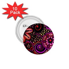Sunset Floral 1 75  Buttons (10 Pack)