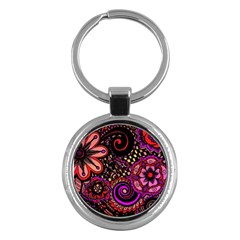 Sunset Floral Key Chains (round)