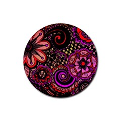 Sunset Floral Rubber Coaster (round)