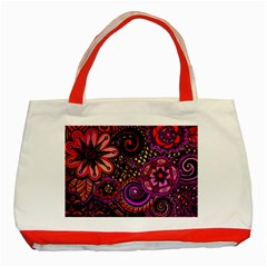 Sunset Floral Classic Tote Bag (Red)