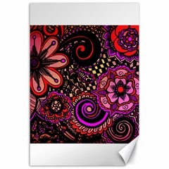 Sunset Floral Canvas 24  x 36