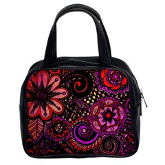 Sunset Floral Classic Handbags (2 Sides)