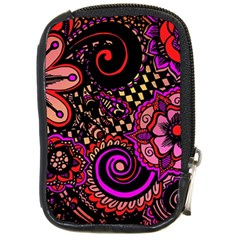 Sunset Floral Compact Camera Cases