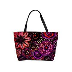 Sunset Floral Shoulder Handbags