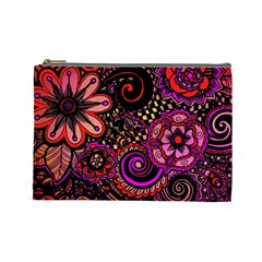 Sunset Floral Cosmetic Bag (large)