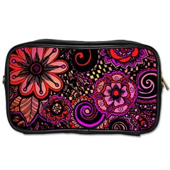 Sunset Floral Toiletries Bags 2-Side